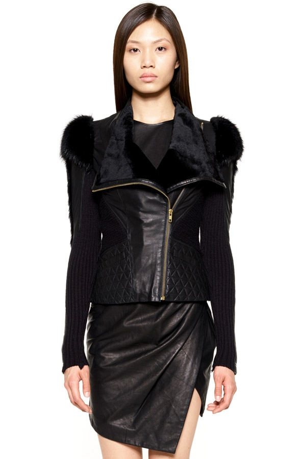 fur shoulder jacket