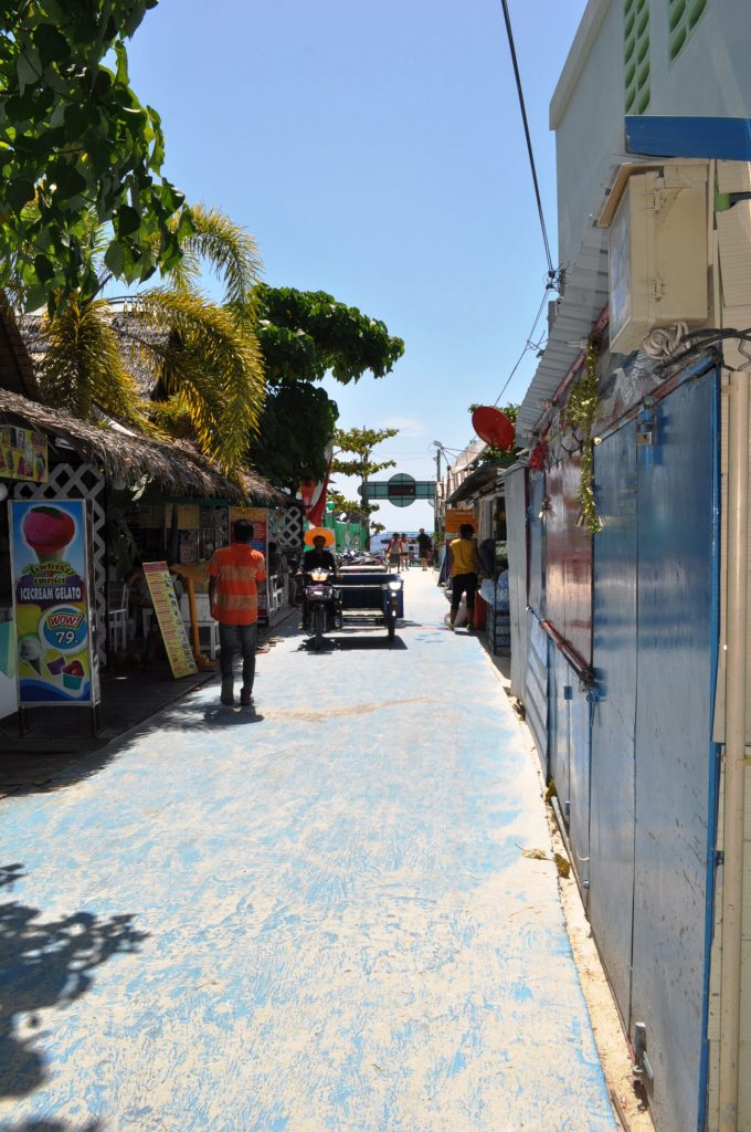 Walking Street, facing the beach