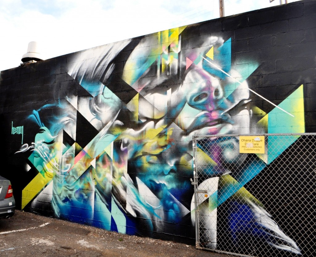 street art by Hueman, Kaka'ako