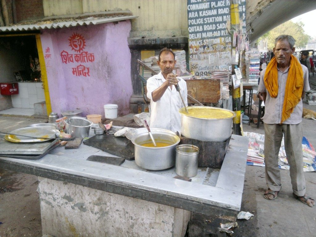 Food stall, Old Delhi, India